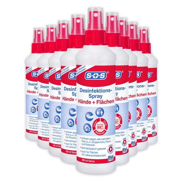 SOS Desinfektions-Spray 250 ml 9 Flaschen im Karton