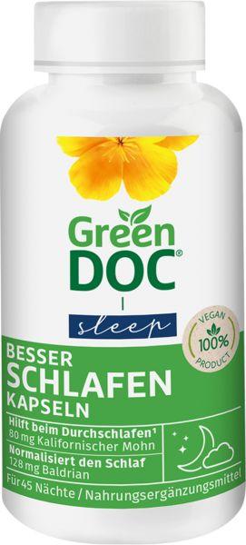 GreenDoc Besser Schlafen 90 Kapseln mit Kalifornischem Mohn und Baldrian