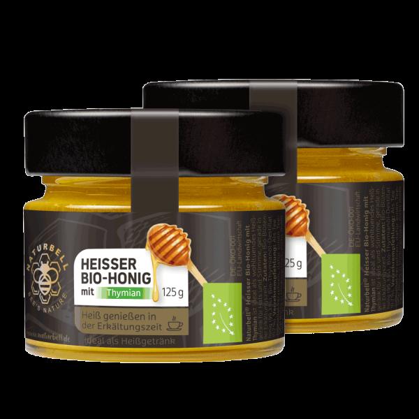 Naturbell Heisser Bio-Honig mit Thymian 2er Pack