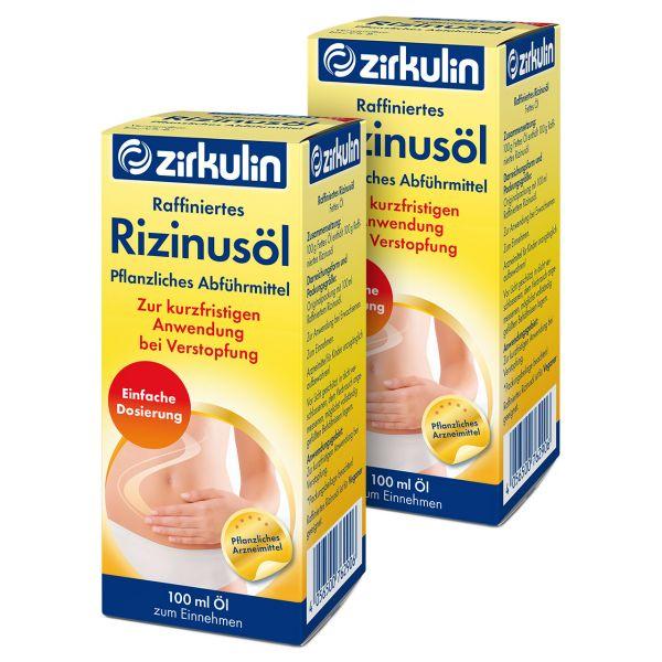 Zirkulin Raffiniertes Rizinusöl ▷ 2er Pack