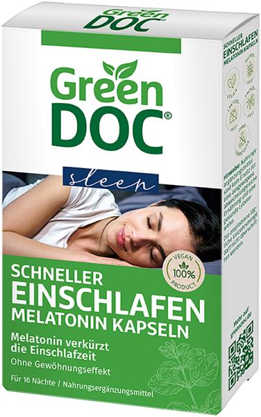 GreenDoc Schneller Einschlafen 32 Melatonin Kapseln vegan