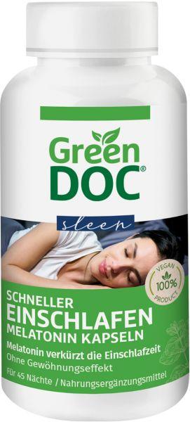 GreenDoc® Schneller Einschlafen Melatonin Kapseln
