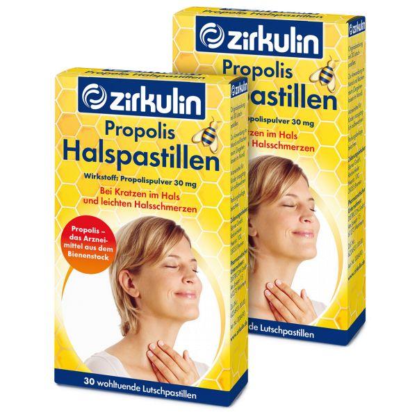 Zirkulin Propolis-Halspastillen ▷ 2er Pack