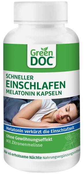 GreenDoc® Vorteilspack Schneller Einschlafen Melatonin Kapseln