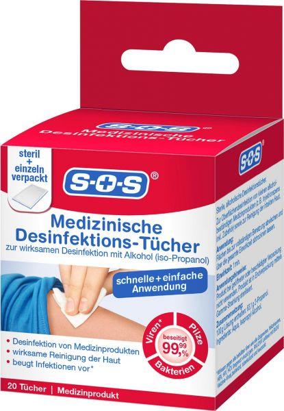 SOS Medizinische-Desinfektions-Tücher ▷ 4er Pack