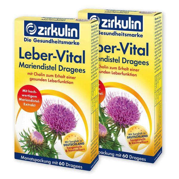 Zirkulin Leber-Vital Mariendistel-Dragees ▷ 2er Pack