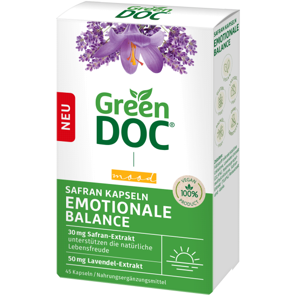 GreenDoc Emotionale Balance Safran-Kapseln