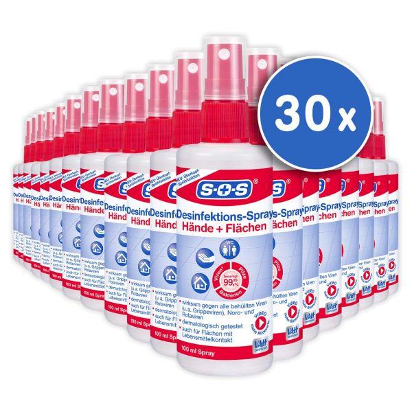 SOS Desinfektions-Spray 100 ml 30 Flaschen im Karton