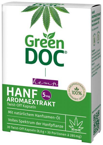 GreenDoc® Hanf Aromaextrakt Twist-Off Kapseln