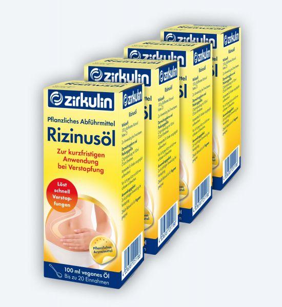 Zirkulin Raffiniertes Rizinusöl gegen Verstopfung ▷ 4er Pack