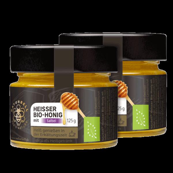 Naturbell Heisser Bio-Honig mit Salbei 2er Pack