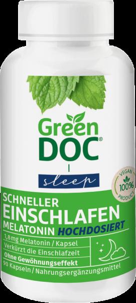 GreenDoc® Schneller Einschlafen Melatonin hochdosiert